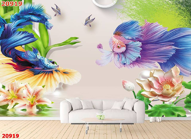 Tranh Tường Hoa 3D-TH24102