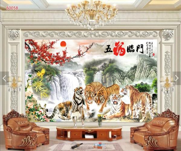 Bầy Hổ Quẩn Hùng Tranh Phòng Khách - 60058