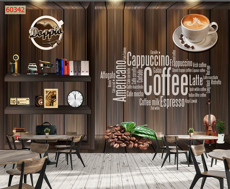 Mẫu Tranh 3D Quán Trà Sữa, Cafe - 60342