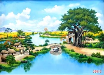 Tranh Đồng Quê Viêt Nam - 38813
