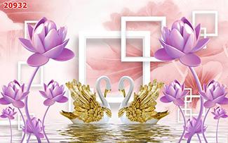 Tranh Dán Tường Hoa 3D - TH24114