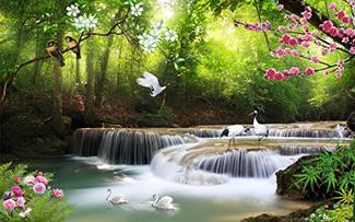 Tranh Dán Tường Sơn Thủy - ST9790
