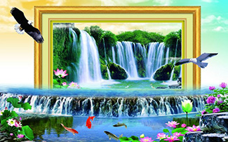 Tranh Dán Tường Sơn Thủy - ST13