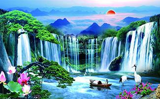 Tranh Dán Tường Sơn Thủy - ST22