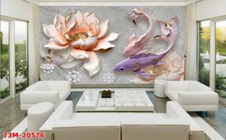 Tranh Dán Tường Hoa 3D - TH24112