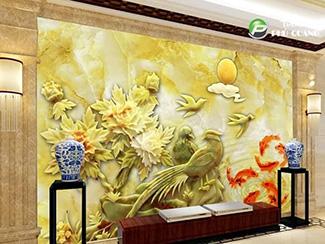Tranh Dán Tường Hoa 3D - TH24106