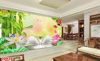 Tranh Tường Hoa 3D-TH24101