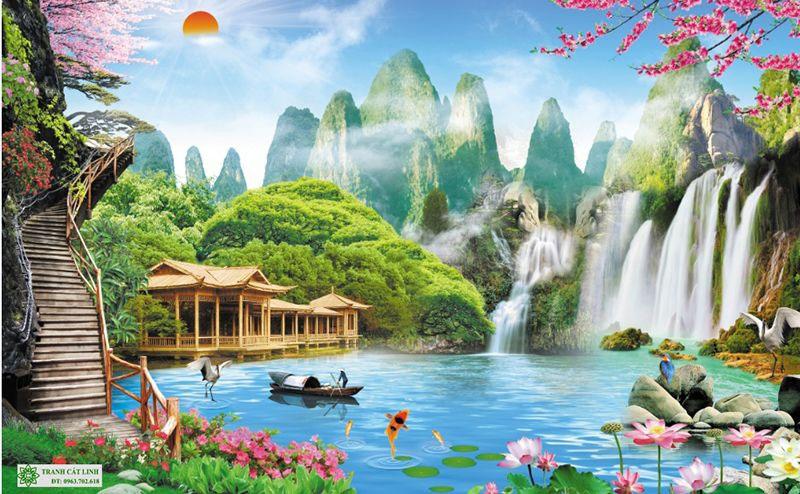 Tranh Sơn Thủy - ST02813