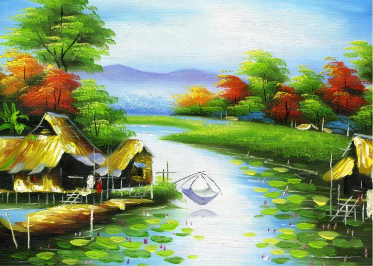 Tranh Đồng Quê - DQ57090
