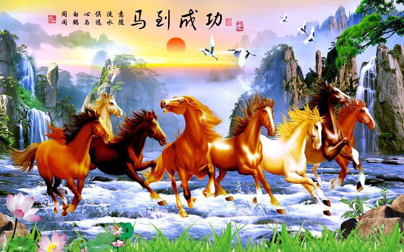 Tranh Mã Đáo Thành Công - MD126