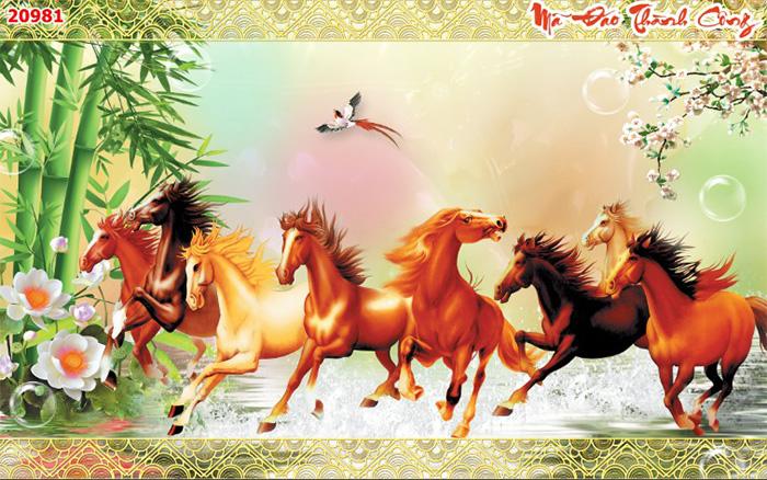 Tranh Ngựa | Tranh Mã Đáo Thành Công - 20981