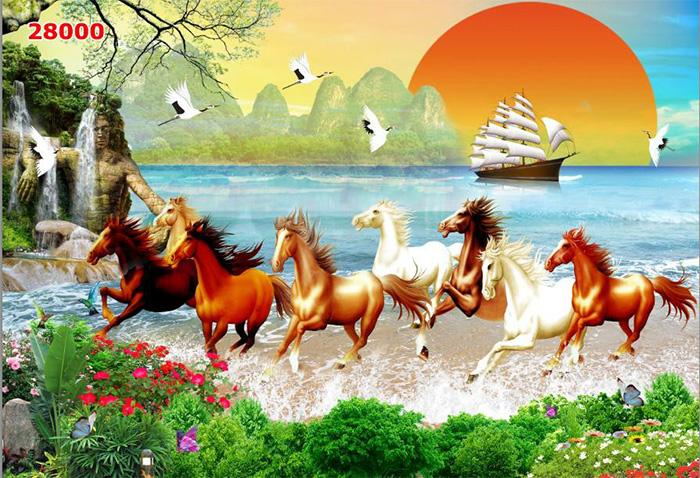 Tranh Ngựa | Tranh Mã Đáo Thành Công - 28000