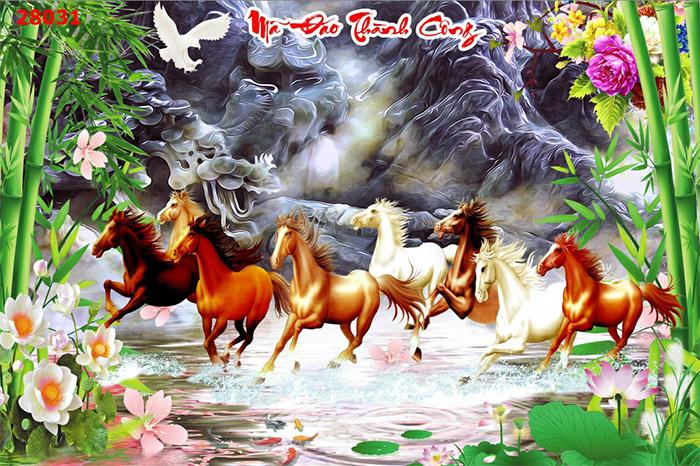 Tranh Ngựa | Tranh Mã Đáo Thành Công - 28031