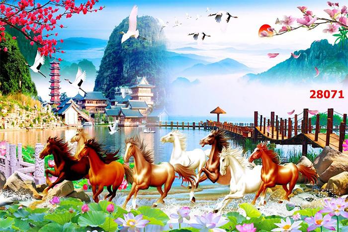 Tranh Ngựa | Tranh Mã Đáo Thành Công - 28071