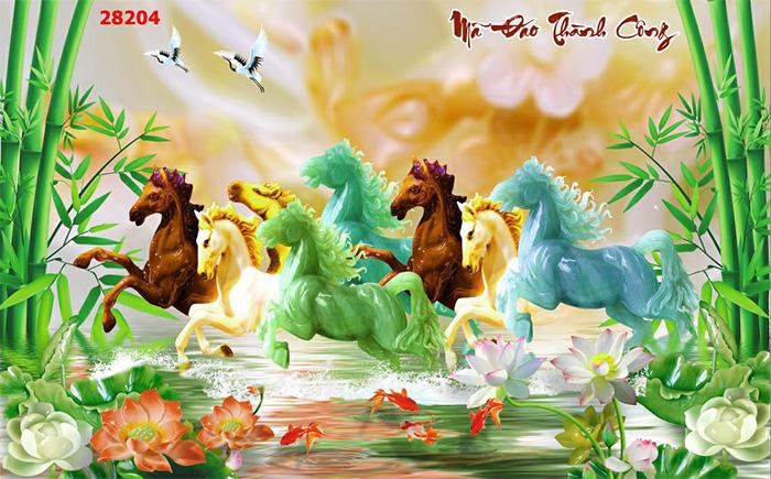 Tranh Ngựa | Tranh Mã Đáo Thành Công - 28204