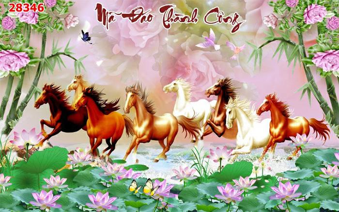 Tranh Ngựa | Tranh Mã Đáo Thành Công - 28346