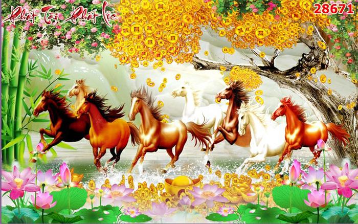 Tranh Ngựa | Tranh Mã Đáo Thành Công - 28671
