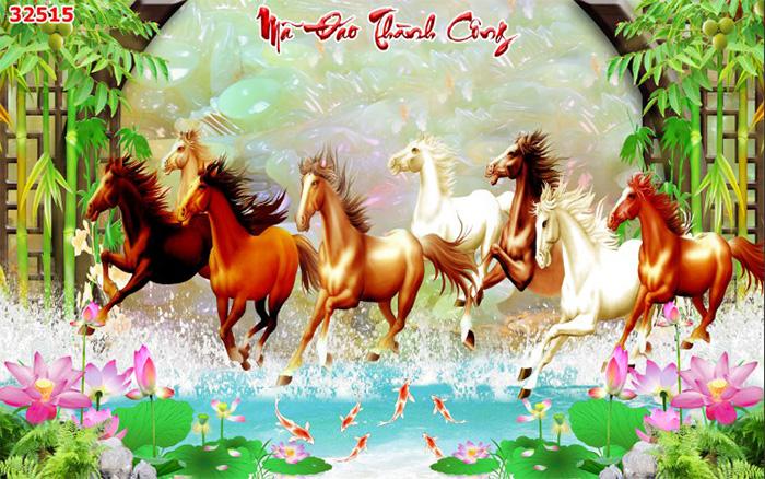 Tranh Ngựa | Tranh Mã Đáo Thành Công - 32515
