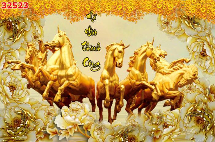 Tranh Ngựa | Tranh Mã Đáo Thành Công - 32523
