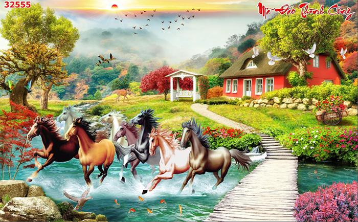 Tranh Ngựa   Tranh Mã Đáo Thành Công - 32555