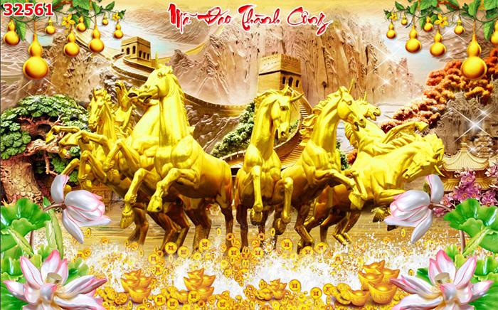 Tranh Ngựa | Tranh Mã Đáo Thành Công - 32561
