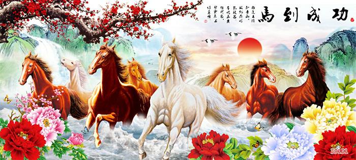 Tranh Ngựa | Tranh Mã Đáo Thành Công - 39131