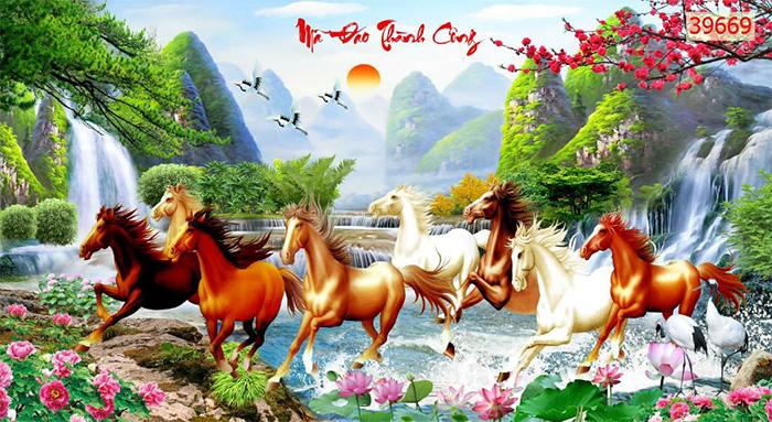 Tranh Ngựa | Tranh Mã Đáo Thành Công - 39669