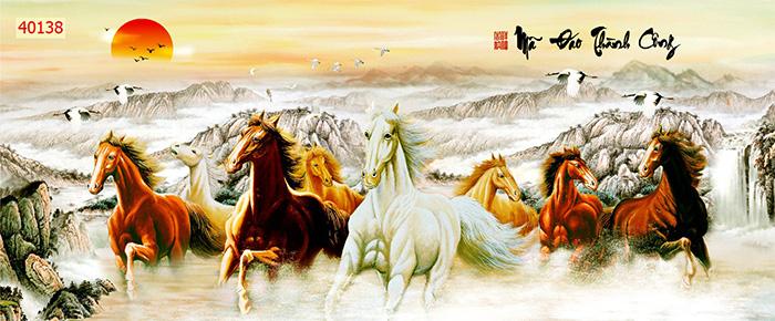 Tranh Ngựa | Tranh Mã Đáo Thành Công - 40138