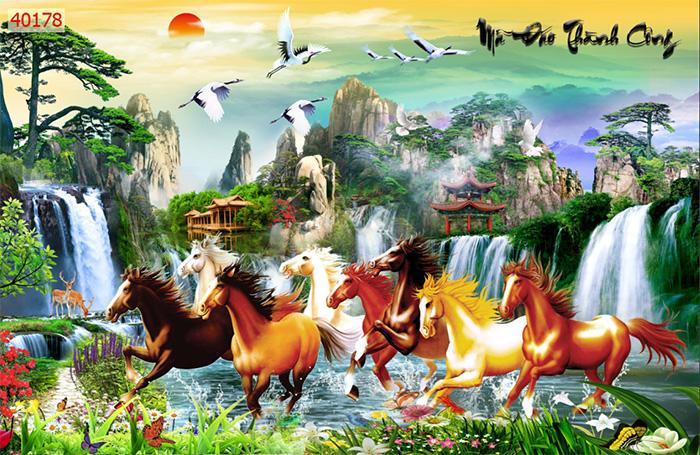Tranh Ngựa | Tranh Mã Đáo Thành Công - 40178