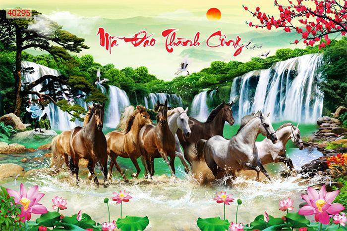 Tranh Ngựa | Tranh Mã Đáo Thành Công - 40295