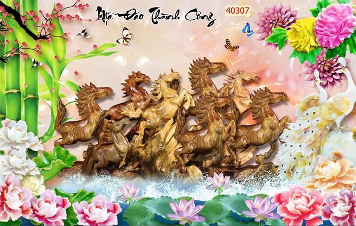 Tranh Ngựa | Tranh Mã Đáo Thành Công - 40307