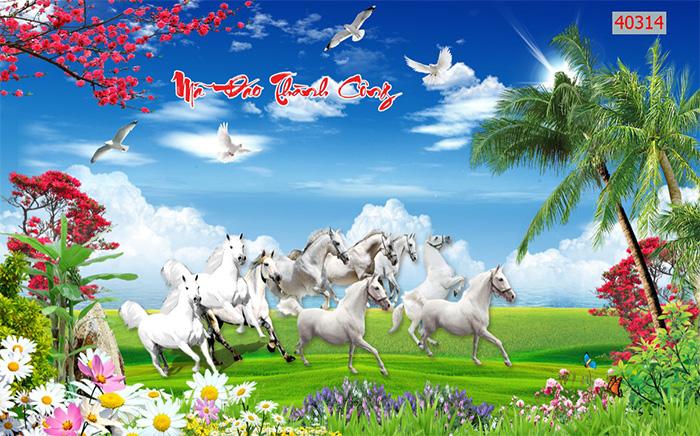 Tranh Ngựa | Tranh Mã Đáo Thành Công - 40314
