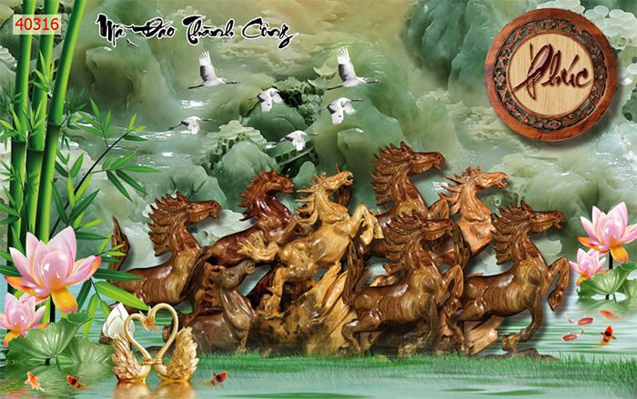 Tranh Ngựa | Tranh Mã Đáo Thành Công - 40316