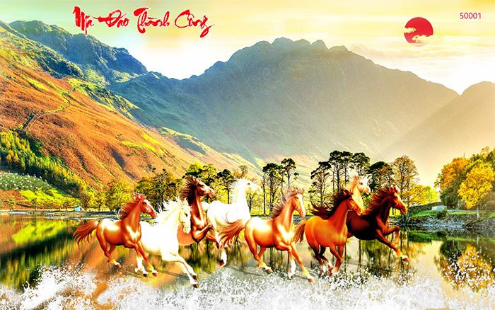 Tranh Ngựa | Tranh Mã Đáo Thành Công - 50001