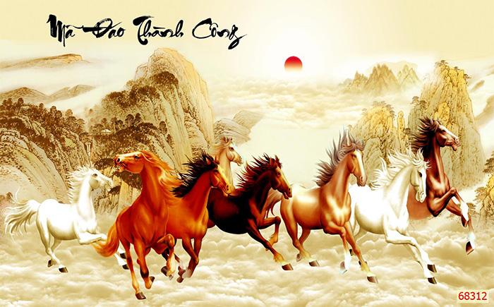 Tranh Ngựa | Tranh Mã Đáo Thành Công - 68312