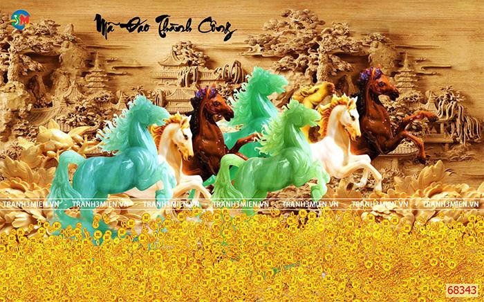 Tranh Ngựa | Tranh Mã Đáo Thành Công - 68343